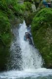 Toboggan dans le canyon du Furon dans le Vercors avec Vertico